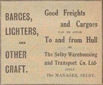 Selby Warehousing Advertisement
